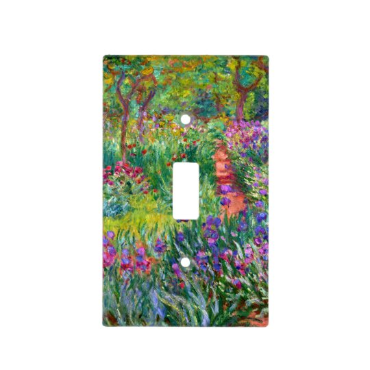 Claude Monet: The Iris Garden at Giverny Light Switch Cover