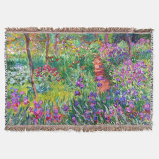 Claude Monet: The Iris Garden at Giverny Throw Blanket