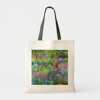 Claude Monet: The Iris Garden at Giverny Tote Bag