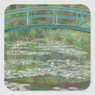 Claude Monet | The Japanese Footbridge, 1899 Square Sticker