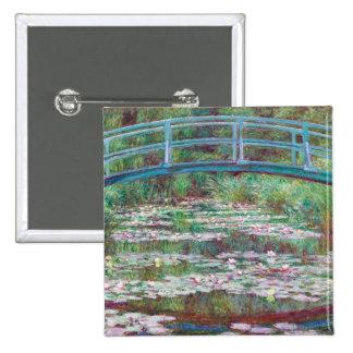 Claude Monet The Japanese Footbridge 2 Inch Square Button