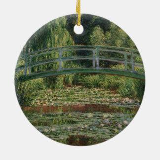 Claude Monet - The Japanese Footbridge Ceramic Ornament
