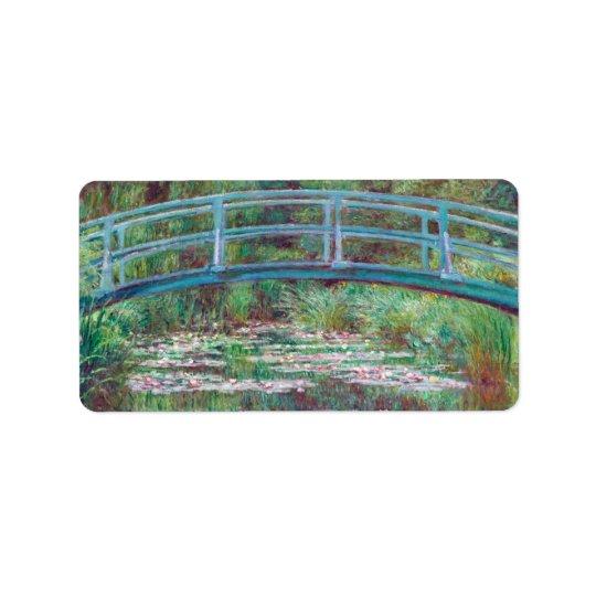 Claude Monet The Japanese Footbridge Label