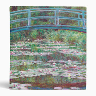 Claude Monet The Japanese Footbridge Vinyl Binder