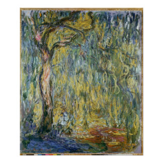Claude Monet | The Large Willow at Giverny, 1918 Poster