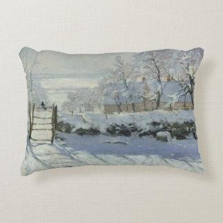 Claude Monet - The Magpie Decorative Pillow