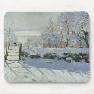 Claude Monet - The Magpie Mouse Pad