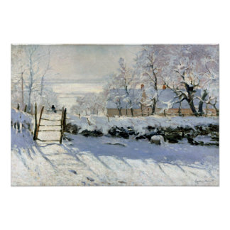 Claude Monet The Magpie Poster