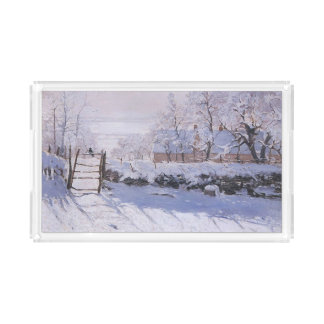 Claude Monet-The Magpie Serving Tray