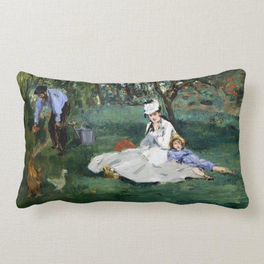 Claude Monet The Monet Family in Their Garden Lumbar Pillow