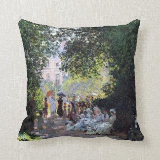 Claude Monet The Parc Monceau Throw Pillow