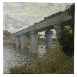 Claude Monet - The Railroad bridge in Argenteuil Ceramic Tiles