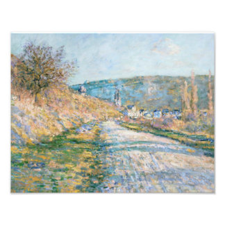 Claude Monet - The Road to Vétheuil Photographic Print