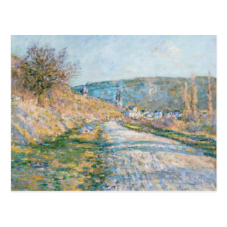 Claude Monet - The Road to Vétheuil Postcard