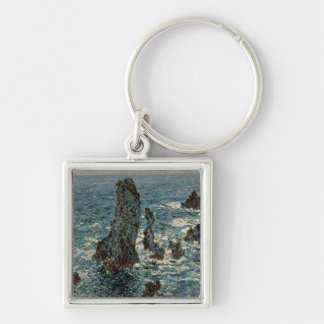 Claude Monet | The Rocks at Belle-Ile, 1886 Keychain