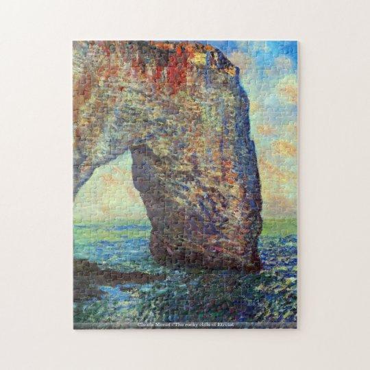 Claude Monet - The rocky cliffs of Etretat puzzle