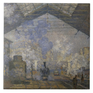 Claude Monet - The Saint-Lazare Station Tile