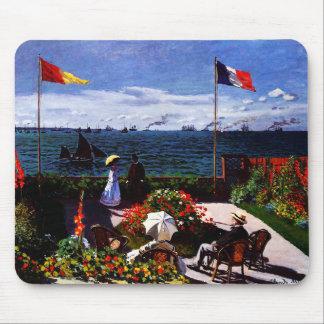 Claude Monet-The Terrace at Sainte-Adresse Mouse Pad