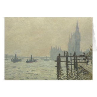 Claude Monet - The Thames at Westminster Card