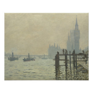 Claude Monet - The Thames at Westminster Poster