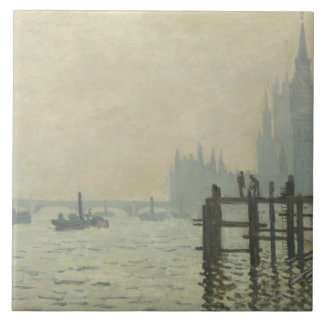Claude Monet - The Thames at Westminster Tiles
