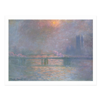 Claude Monet   The Thames with Charing Cross Postcard