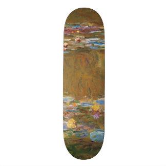 Claude Monet The Water Lily Pond GalleryHD Vintage Skateboard Decks