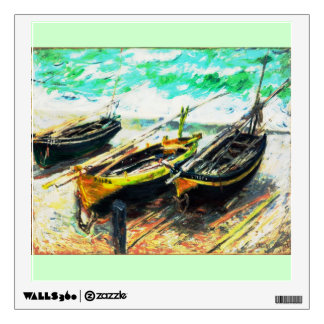 Claude Monet - Three Fishing Boats (Modified) Wall Sticker