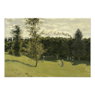 Claude Monet - Train in the Countryside Art Photo