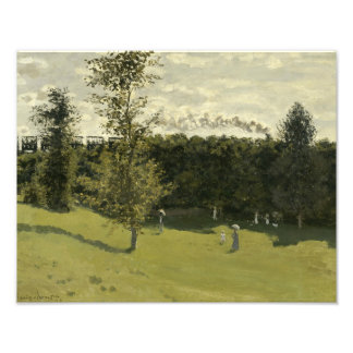 Claude Monet - Train in the Countryside Photographic Print