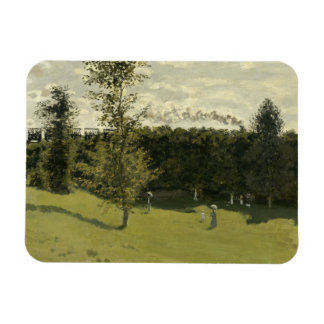 Claude Monet - Train in the Countryside Rectangular Photo Magnet