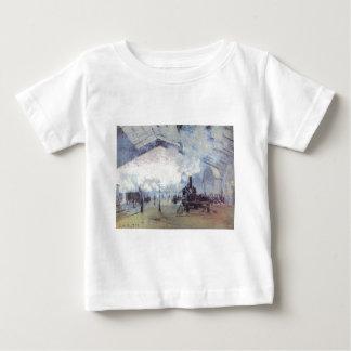 Claude Monet Train Station Popular Vintage Art Baby T-Shirt