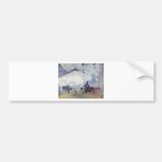 Claude Monet Train Station Popular Vintage Art Bumper Sticker