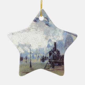 Claude Monet Train Station Popular Vintage Art Ceramic Ornament