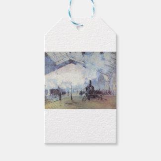 Claude Monet Train Station Popular Vintage Art Gift Tags