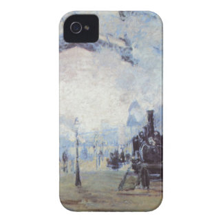 Claude Monet Train Station Popular Vintage Art iPhone 4 Case