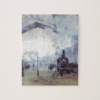 Claude Monet Train Station Popular Vintage Art Jigsaw Puzzle