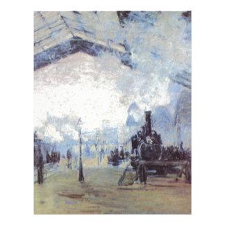 Claude Monet Train Station Popular Vintage Art Letterhead