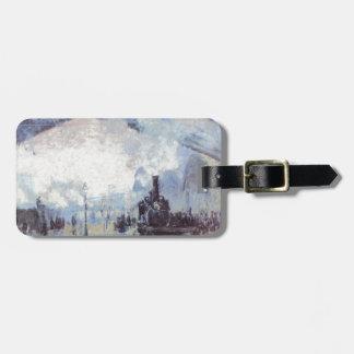 Claude Monet Train Station Popular Vintage Art Luggage Tag