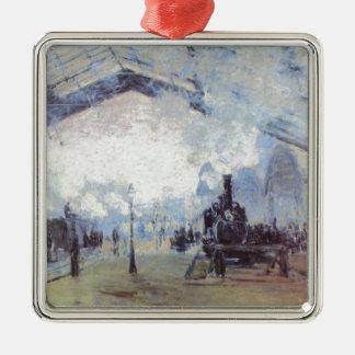 Claude Monet Train Station Popular Vintage Art Metal Ornament