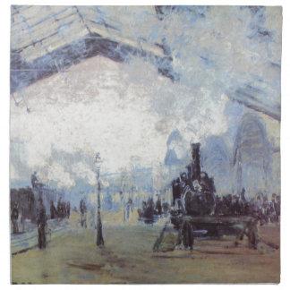 Claude Monet Train Station Popular Vintage Art Napkin