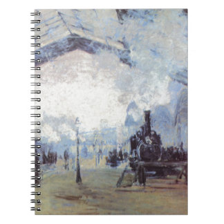 Claude Monet Train Station Popular Vintage Art Notebooks