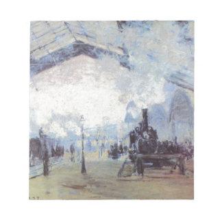 Claude Monet Train Station Popular Vintage Art Notepad