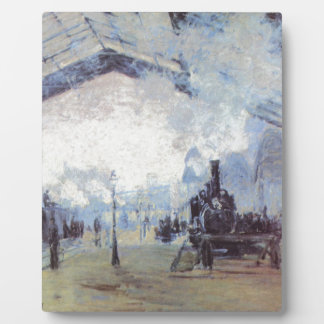 Claude Monet Train Station Popular Vintage Art Plaque