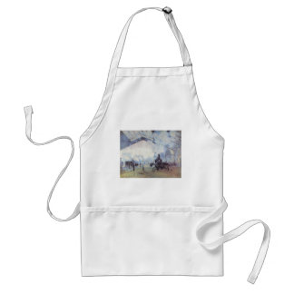 Claude Monet Train Station Popular Vintage Art Standard Apron