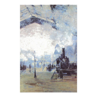 Claude Monet Train Station Popular Vintage Art Stationery