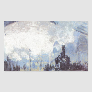 Claude Monet Train Station Popular Vintage Art Sticker