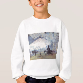 Claude Monet Train Station Popular Vintage Art Sweatshirt