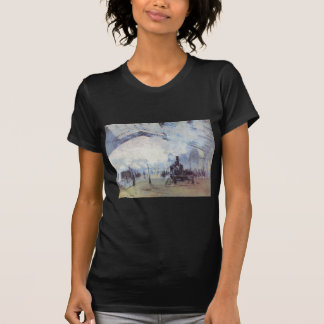 Claude Monet Train Station Popular Vintage Art T-Shirt