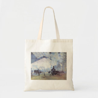 Claude Monet Train Station Popular Vintage Art Tote Bag